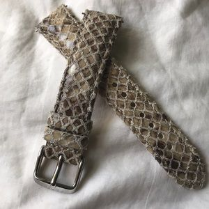 Snakeskin leather Fossil watchband 18mm